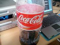 飲みかけのコーラ