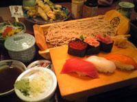 寿司と蕎麦と天ぷら