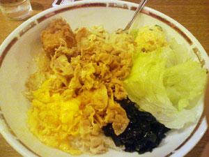 小盛肉野菜丼