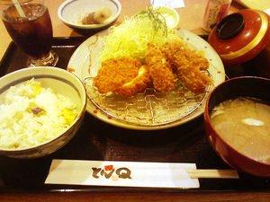 おすすめかきフライ定食