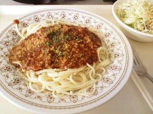 ミートソーススパゲティー
